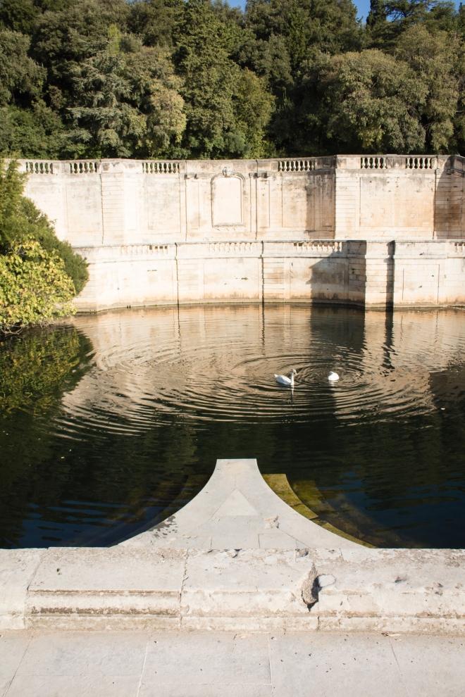 La source de la Fontaine : Sumber air mancur